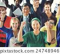 Success Occupation Career Celebration Worker Concept 24748946