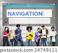 Navigation Location Travel Search Trip Concept 24749111