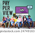 Pay-Per-View Content Magnifier Observation Concept 24749163