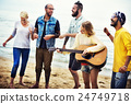 Teenagers Friends Beach Party Happiness Concept 24749718