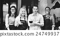 Friends Partnership Barista Coffee Shop Concept 24749937
