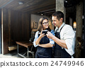 Barista Partner Working Coffee Shop Concept 24749946