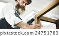 Carpenter Craftmanship Carpentry Handicraft Wooden Workshop Concept 24751783