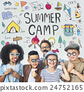 Summer Camp Adventure Exploration Enjoyment Concept 24752165