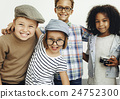Children Friendship Togetherness Playful Happiness Concept 24752300