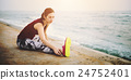 Yoga Exercise Active Beach Outdoor Concept 24752401