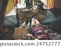 Friends Camping Relax Vacation Weekend Concept 24752777