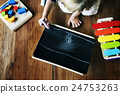 Kid Playing Xylophone Toy Enjoy Concept 24753263