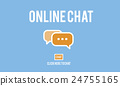 Online Chat Global Communications Connection Concept 24755165