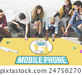 Mobile Phone Cellphone Cellular Communicate Concept 24756270