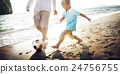 Family Father Son Togetherness Football Soccer Sport Concept 24756755