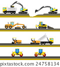 Set of seamless horizontal road construction 24758134