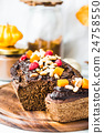 chocolate cake with pumpkin, nuts , autumn baked 24758550