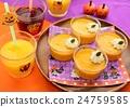 ฮาโลวีนปาร์ตี้พุดดิ้งอาหารฟักทอง 24759585
