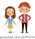 youthful, vector, heterosexual couple 24761334