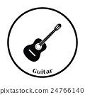 Acoustic guitar icon 24766140
