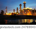 industry power plant in evening time 24769043