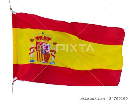 spanish flag isolated 24769169