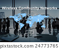 Wireless Community Networks Technology Hotspot Concept 24773765