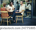 Friends Meeting Cafe Wine Waiting Concept 24775885
