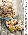 The pistachio nuts. 24778507