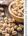 The pistachio nuts. 24778509