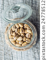 The pistachio nuts. 24778512
