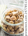 The pistachio nuts. 24778513