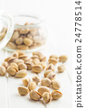 The pistachio nuts. 24778514