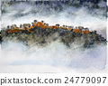 takeda castle, sea of clouds, castle in the sky 24779097