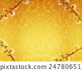매화와 금 병풍 24780651
