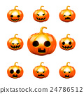 Happy halloween pumkin isolated on white backgroun 24786512