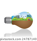 green concept. Green infographics.Green city 24787140