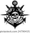 Pirate emblem skull 24790435