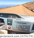 car dashboard with keys 24791791