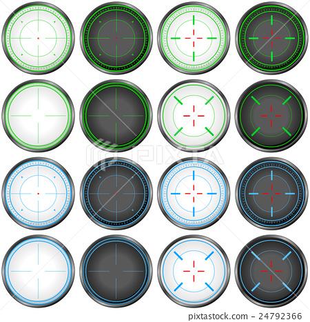 Sniper Scope Target Colorful Set 24792366