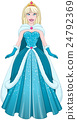 Snow Princess In Blue Dress And Cloak 24792369