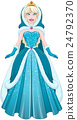 Snow Princess In Blue Dress Cloak And Hood 24792370