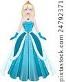 Snow Princess In Blue Dress Front 24792371
