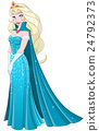 Snow Princess In Blue Dress Side 24792373
