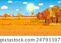 Autumn nature landscape with forest and field 24793307