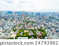 View from above on Tokyo Tower with skyline in 24793962