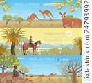 Set of Australian travel posters 24793992