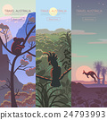Set of Australian travel posters 24793993