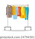 Hanger rack with warm women clothes winter set 24794361