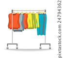 Hanger rack with warm women clothes winter set 24794362