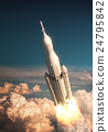 Space Launch System Takes Off Over The Clouds 24795842