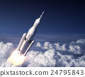 Space Launch System Takes Off In The Blue Sky 24795843