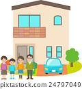 四个人在独立式住宅前 24797049