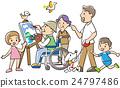 草圖 素描 家庭 24797486